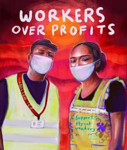 Workers over Profits, Scholar Strike. Illustration: @nerdybrownkid (instagram)